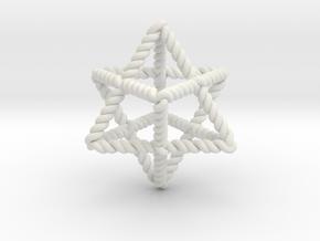Star Twistahedron in White Natural Versatile Plastic