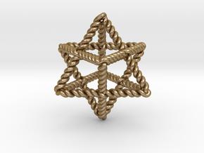 "Star Twistahedron 1.6"" in Polished Gold Steel"