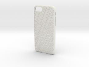iPhone 7 & 8 Case_Geometric in White Premium Versatile Plastic
