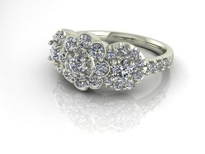 Grace collection 11 NO STONES SUPPLIED in Premium Silver
