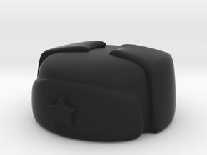 Russian Winter Cap in Black Premium Versatile Plastic