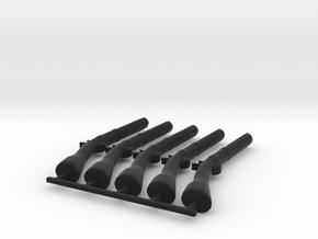 5 x Baker Rifle  in Black Premium Versatile Plastic