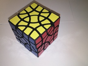 4+4 corners cube in Black Natural Versatile Plastic