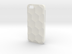 iPhone SE/5S Case_Hexagon in White Premium Versatile Plastic