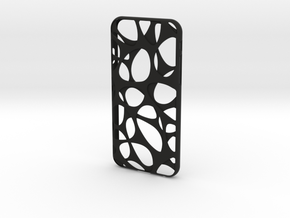 iPhone 6 / 6S Case_Voronoi in Black Premium Strong & Flexible
