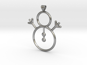 Snowman Pendant in Natural Silver