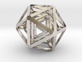 Icosahedron x 3 in Platinum