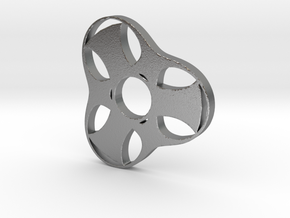 Trefoil Spinner - Red Strong & Flexible in Natural Silver