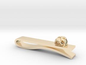 Skull Tie Bar 1 in 14k Gold Plated Brass