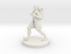 Elven  Adventurer in White Natural Versatile Plastic
