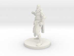 Human Monk Master in White Natural Versatile Plastic