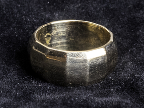 RING 5-13 Faceted in Polished Bronze