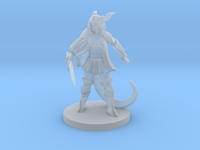 Female  Half Dragon Fighter in Smooth Fine Detail Plastic