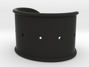 Cosplay Cuff Base (with holes for screw-back spike in Black Premium Versatile Plastic: Small