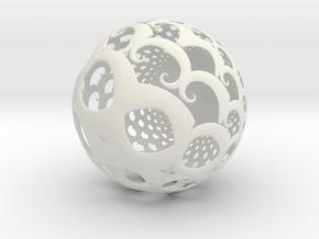 Lg Sphere in White Natural Versatile Plastic