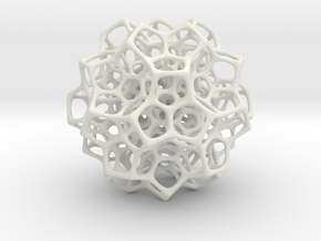 Christmas tree decoration ornament - 120cell_A4_r5 in White Natural Versatile Plastic: Small