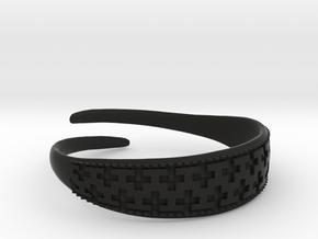 Viking Bracelet 2 in Black Premium Versatile Plastic: Small