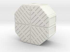 1:18 FALCON YT1300 ANH CARGO BOX MODEL E in White Natural Versatile Plastic