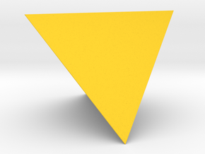 1 Tetrahedron (four faces). in Yellow Strong & Flexible Polished