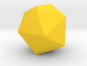 5 Icosahedron (twenty faces). in Yellow Strong & Flexible Polished