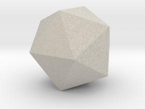 5 Icosahedron (twenty faces). in Natural Sandstone