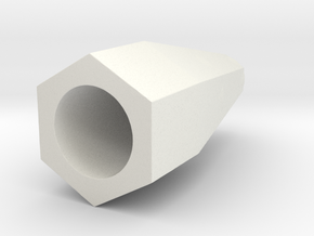 2.1mm to 1.5mm reducer in White Natural Versatile Plastic