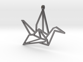 Crane Pendant S in Polished Nickel Steel
