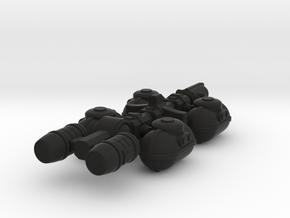Fuel Tanker in Black Premium Versatile Plastic