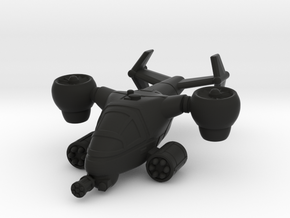 Terran Ground Attack VTOL in Black Premium Versatile Plastic