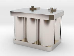 1/10 r/c battery in Rhodium Plated Brass