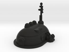 Medium Dome Habitat in Black Premium Versatile Plastic