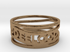 Katie Test Ring Size 6.5 in Natural Brass