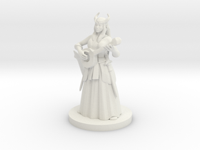 Tiefling Female Bard in White Natural Versatile Plastic