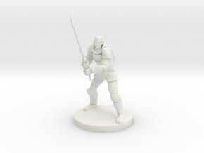 Half Elf Great Weapon Fighter in White Natural Versatile Plastic