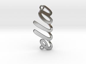 "Custom Name Pendant ""Ella"" in Polished Silver"