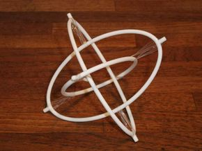 Borromean Tensegrity 2 in White Natural Versatile Plastic