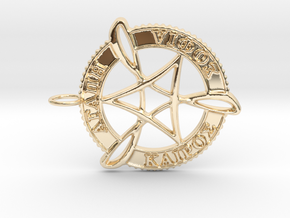 Agape Sophia Kairos Pendant in 14K Yellow Gold