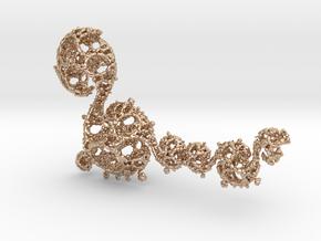 Jk Dragon B in 14k Rose Gold Plated Brass