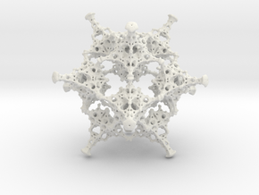 Rotated Icosahedron in White Natural Versatile Plastic