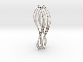 Flower 50 Twist - Pair in Platinum