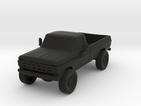 Lifted Pickup in Black Natural Versatile Plastic
