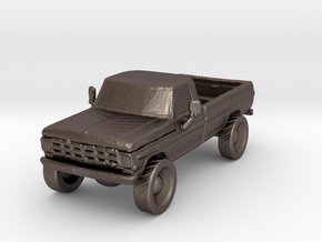 Lifted Pickup in Polished Bronzed Silver Steel