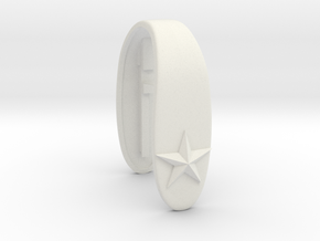 STAR #36 KEY FOB in White Premium Versatile Plastic