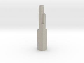 Willis Tower (1:1200 Scale) in Sandstone