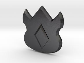 Pokemon Kanto Volcano Badge in Polished and Bronzed Black Steel