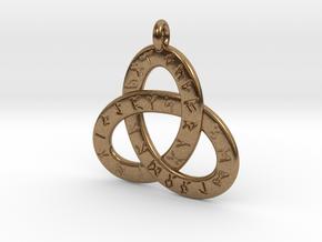 Saxon Rune Poem Triquetra 4.5cm in Natural Brass