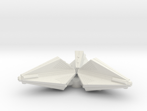 3788 Scale Tholian Destroyer Pinwheel SRZ in White Natural Versatile Plastic