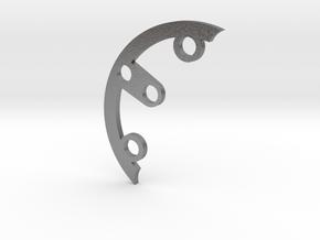 Rad fin A-4 in Natural Silver