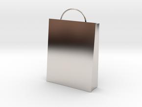 Plain Bag Charm in Platinum