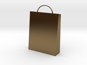 Plain Bag Charm in Polished Bronze